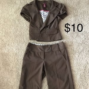 2 for $20 Brown shorts suit